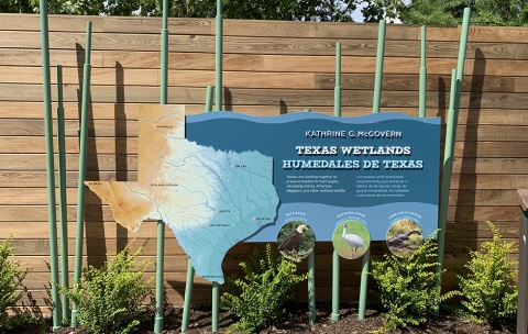 Texas Wetlands entrance sign
