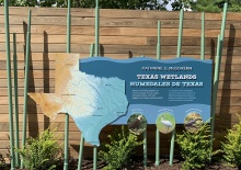 Texas Wetlands entrance sign