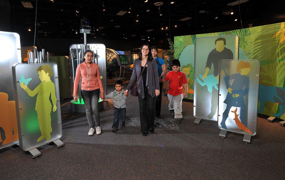 traveling exhibit, interactive, exhibit design, environmental graphics, themed environment, main street design, Science North